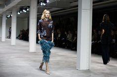 Dries Van Noten - Spring 2013 - The Sartorialist.  That skirt is amazing.