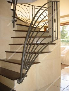 Steel Railing Design, Diy Stair Railing, Staircase Design, Home Window Grill Design, Room Divider Doors, Space Saving Furniture, Small House Design, Unique Home Decor, Modern Furniture