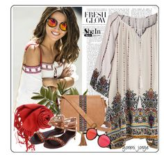 """Summer -  Boho Style"" by goreti ❤ liked on Polyvore featuring T-shirt & Jeans"