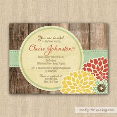 Rustic Baby Shower Invitations