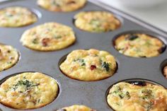 Turkey sausage, cheddar, and egg muffins are adorable and filling. Make a batch of these on Sunday t... - POPSUGAR Photography / Leta Shy