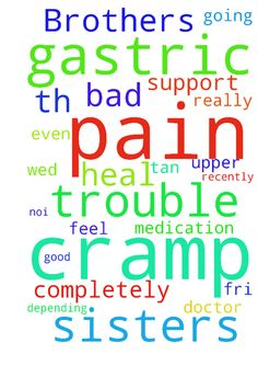 Dear Brothers and sisters in Christ,    Can I  trouble -  Dear Brothers and sisters in Christ, Can I trouble u with a prayer request. Recently have been having bad pain n cramp at the upper abdomen gastric area. Very bad cramp and feel the pain even after taking the gastric medication. Please pray that God will heal me completely from all this gastric pain and cramp. Im going for gastroscopy this coming Wed 12th Jul or Fri 14th July at 1100am. Depending on the schedule of Doctor Really…