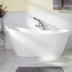 """65"""" Arcola Acrylic Freestanding Tub - No Overflow or Faucet Holes"""