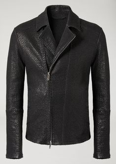 Fine materials and design for this Laser Cut Vegetable Tanned Nappa Jacket by Emporio Armani Men. Take a look at the official online store now. Black Leather Jacket Outfit, Mens Leather Bomber Jacket, Leather Jacket With Hood, Jacket Men, Leather Jackets For Sale, Zara Jackets, Jacket Style, Emporio Armani, Mens Fashion