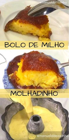 Receita de Bolo Cremoso de Liquidificador, muito gostoso, prático é uma ótima opção para seu lanche da tarde! #bolo #cremoso #molhadinho #milho #liquidificador #aguanaboca #manualdacozinha #receita #receitafacil #receitacaseira Sweet Recipes, Cake Recipes, Brazilian Dishes, Good Food, Yummy Food, Bread Cake, Portuguese Recipes, Homemade Cakes, Cupcake Cakes