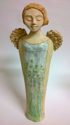 Pomněnková velká Soška anděla, vysoká +-44 cm