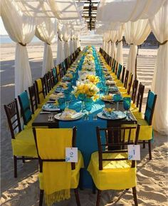 Like the draping for a beach wedding. Colorblock Linen at beach ceremony // Photo: Simone and Martin Photography Wedding Outside, Beach Wedding Reception, Beach Ceremony, Blue Wedding, Summer Wedding, Wedding Colors, Wedding Receptions, Reception Ideas, Beach Weddings
