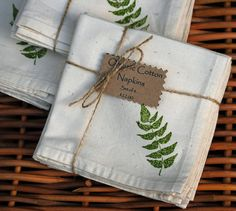 Items similar to Organic Cotton Napkins--Green Fern Hand Ink Stamp (Set of on Etsy Cotton Napkins, Napkins Set, Teddy Bear Design, Fabric Stamping, Eco Friendly Paper, Ink Stamps, Vintage Textiles, Craft Items, Fabric Painting