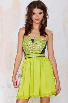 Three Floor Moretz Strapless Dress