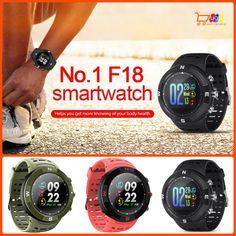 NO.1 F18 Sports Smartwatch Bluetooth Waterproof Call Message Reminder Pedometer #NO1 Smartwatch Bluetooth, Watch Bands, Smart Watch, Remote, Messages, Sports, Ebay, Bed Room, Smartwatch