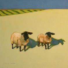 """Sheep Duo"" - Original Fine Art for Sale - © Donna Walker"