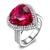 18K-Gold setting with Nature Red Tourmaline from Shenzhen Quan Xing Gems Co Ltd