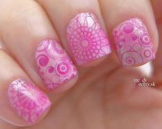 Patern Nail, Nail Art, Stamping nail