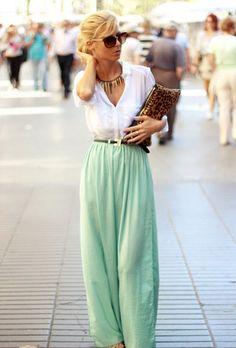 @roressclothes closet ideas #women fashion Mint Palazzo Pants