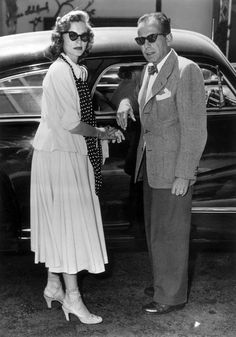 The Nifty Fifties-Lauren Bacall and Bogart in 50s attire