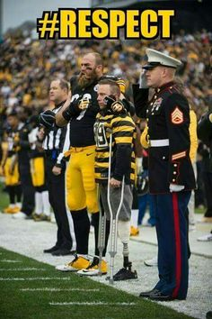 That's right! I love this! I love the love for our military! And I love the Pittsburgh Steelers!!!