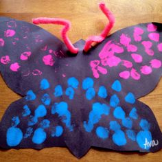 A butterfly made by Ava, 5 years old • Art My Kid Made #kidart
