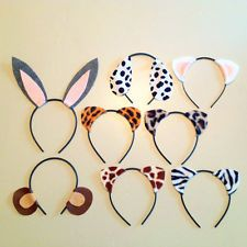 8 Quantity Animal Ears Headbands Birthday Party Favors Costume Littlest Pet Shop