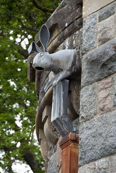 Unique rabbit downspout at St. Conan's Church, Scotland - photograph by Lynn Davison-Suckow Statues, Rabbit Art, Rabbit Head, Bunny Art, Green Man, Yard Art, Architecture Details, Beautiful Architecture, Land Scape