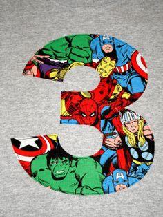 Spider-Man Iron Man Wolverine Hulk Thor Captain America Superhero Avengers Custom Applique Boys Birthday T-Shirt Kids/Childrens/Baby Clothes. 4th Birthday Cakes, 6th Birthday Parties, Third Birthday, Boy Birthday, Avengers Birthday, Superhero Birthday Party, Iron Man Party, Paw Patrol Party, Sewing Dolls