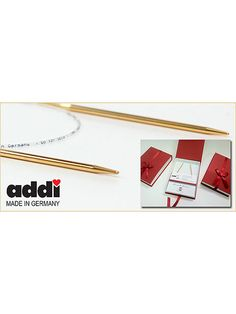 Addi-ART 24k Limited Edition Circular Knitting Needle at Dream Weaver Yarns LLC
