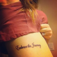 tattoo embrace the journey