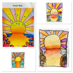 3rd Grade Making Peter Max-http://2soulsisters.blogspot.com/2016/06/peter-max-maxed-out-at-end-of-year.html