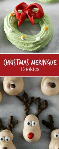 EASY Christmas Meringue Cookies #CookieEggChange - Sober Julie