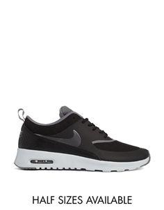 new concept f7c52 9208f Nike Air Max Thea Black Trainers at asos.com