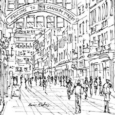 Carnaby Street London Carnaby Street, Find Art, Around The Worlds, Sketches, Urban, London, Drawings, Artist, Illustrations