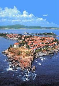Sozopol, an old town on Bulgarian Thrace's Black Sea coast.