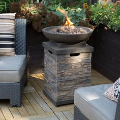 Propane Fire Bowl, Fire Pit Bowl, Fire Bowls, Fire Pit Decor, Diy Fire Pit, Fire Pit Backyard, Backyard Retreat, Fire Pit Furniture, Backyard Furniture