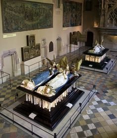 The Tomb of Philip the Bold, the First Duke of Burgundy (back) and the Tomb of John the Fearless and His Wife (foreground). Musée des Beaux-Art de Dijon, Dijon