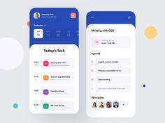 Task Management App Concept - App Templates - Ideas of App Templates - Task Management App Concept by Ahmed Manna for UnoPie on Dribbble Flat Web Design, App Ui Design, Design Design, Web Mobile, Mobile App Ui, User Interface, Interface Design, Design Responsive, Responsive Web