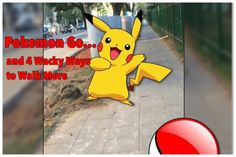 Have you tried Pokemon Go yet? It's the latest health craze! Well, not exactly, but it almost seems that way with the amount of walking people are now doing to play this game. Pokemon Go, Pikachu, Walking People, Have You Tried, That Way, Games To Play, Health, Fitness, Fictional Characters