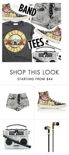 """I'm With the Band: Band T-Shirts"" by meyli-meyli ❤ liked on Polyvore featuring Carmar, Gucci, Dolce&Gabbana, Master & Dynamic and bandtees"