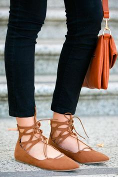 One of the hottest fashion items for sprint are a pair of lace up flats!