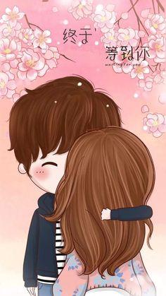 小薇的世界光 插画 壁纸 情侣 Cute Couple Cartoon, Chibi Couple, Cute Love Cartoons, Anime Love Couple, Cute Anime Couples, Cartoon Pics, Cute Cartoon, Anime Chibi, Kawaii Anime