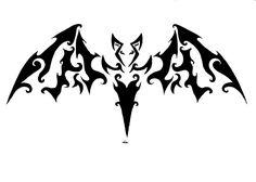 tribal bat symbol tattoo designs tattoo ideaschopper tattoo rh pinterest com Bats and Moon Tattoos Bat Tattoo Meaning