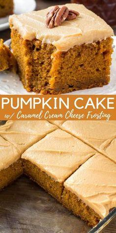 The Best Pumpkin Cake Recipe, Pumpkin Cake Recipes, Pumpkin Dessert, Pumpkin Bread, Pumpkin Pumpkin, Cheese Pumpkin, Easy Pumpkin Cake, Pumkin Cake, Pumpkin Coffee Cakes