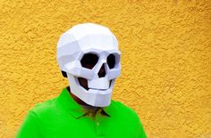 Máscara cráneo DIY. Máscara de cráneo Máscaras por PlainPapyrus