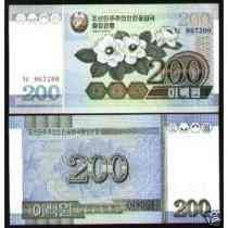 Coréia Do Norte 200 Won 2005 P. 48 Fe Cédula - Tchequito