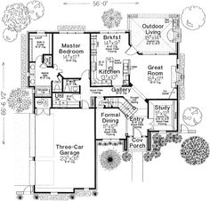 European Style House Plans   2663 Square Foot Home , 2 Story, 4 Bedroom And