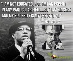 "Honoring legendary Malcolm X who was murdered on this day 51 years ago. (May 1925 – February ""Back during slavery, when Black people like me talked to the slaves, they didn't kill 'em, they sent some old house Negro along behind him to. Black History Quotes, Black History Facts, Black History Month, Black Quotes, Malcolm X Quotes, Wisdom Quotes, Life Quotes, Black Leaders, By Any Means Necessary"