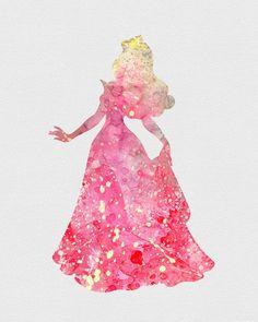 Princess Aurora Sleeping Beauty Watercolor Art