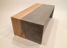 beautiful concrete/wood coffee tables by Concrete Pig