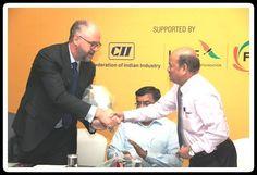 4.Shri Y Hariharan, Deputy Regional Chairman Honouring HE Achin Fabig, CG, Federal Republic of Germany. Chennai