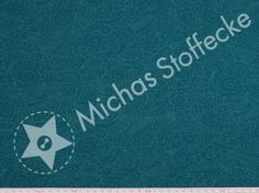 Michas Stoffecke - Bio-Stretchjersey Background petrol S-SO-D80132