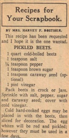 Retro Recipes, Old Recipes, Vintage Recipes, Cookbook Recipes, Cooking Recipes, Beet Recipes, Recipies, Home Canning Recipes, Recipe Paper