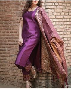 Salwar Designs, Silk Kurti Designs, Kurta Designs Women, Kurti Designs Party Wear, Brocade Blouse Designs, Indian Fashion Dresses, Dress Indian Style, Indian Outfits, Latest Pakistani Dresses